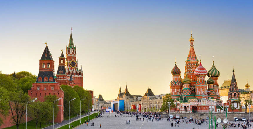 Direct round-trip flights from Eindhoven to Moscow for 71 €