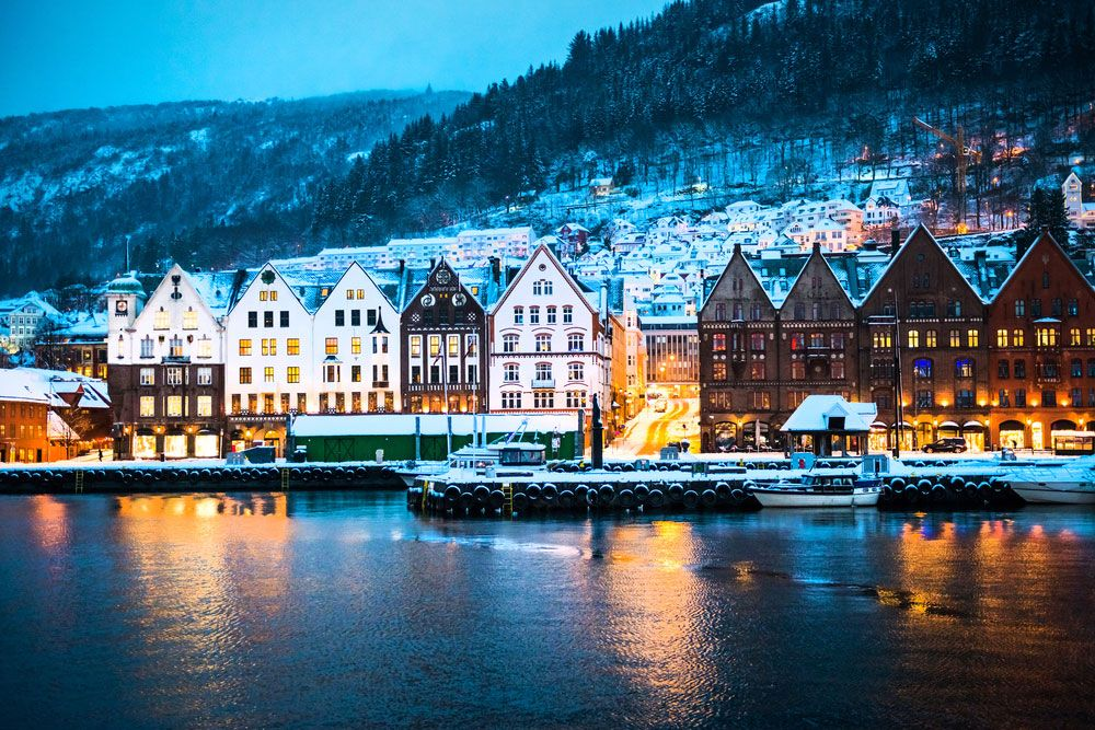 Direct return flights from Gdansk & Szczecin to Bergen for just 18 €