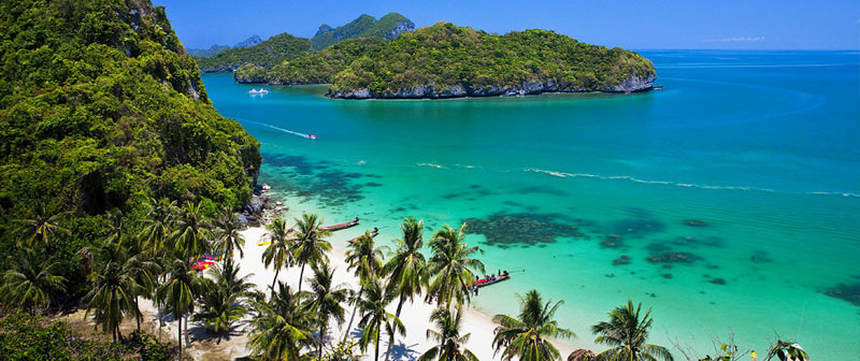 Round-trip flights from Zurich to Koh Samui, THAILAND for 396 €