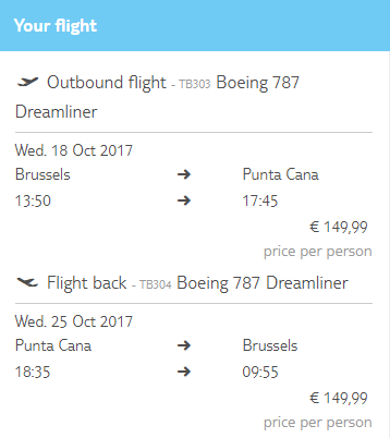 Last minute !! Direct return flights from Brussels to Punta Cana for just 300 € !!