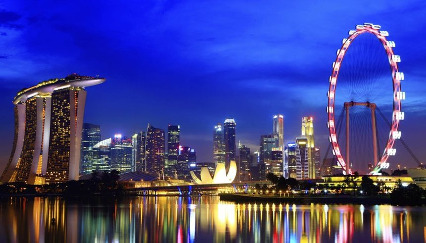 Return flights from Nice to Singapore from only 384 €