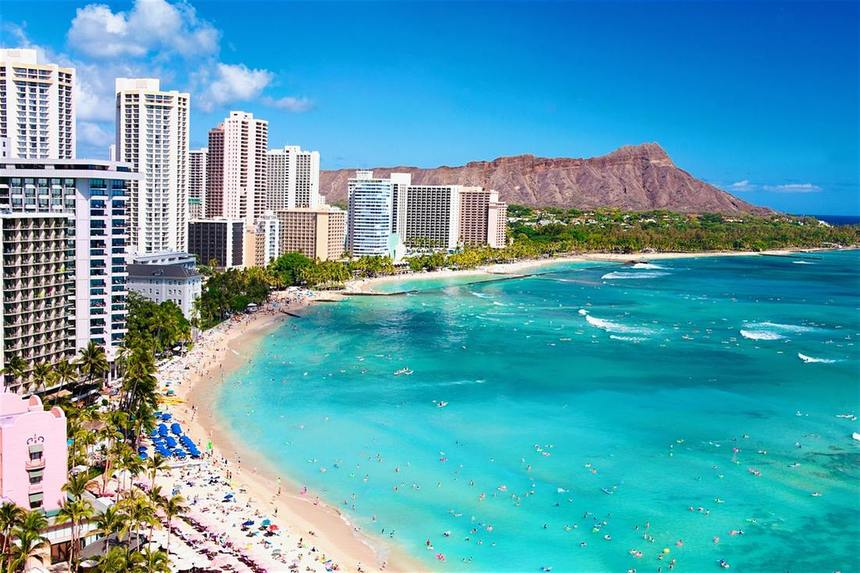 Return flights from Amsterdam to Hawaii from just 458 €