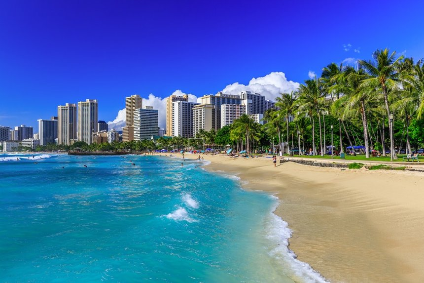 Return flights from Amsterdam to Honolulu, Hawaii for 491 €