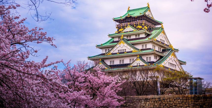 Round-trip flights from Paris to Osaka, Japan for just 373 €