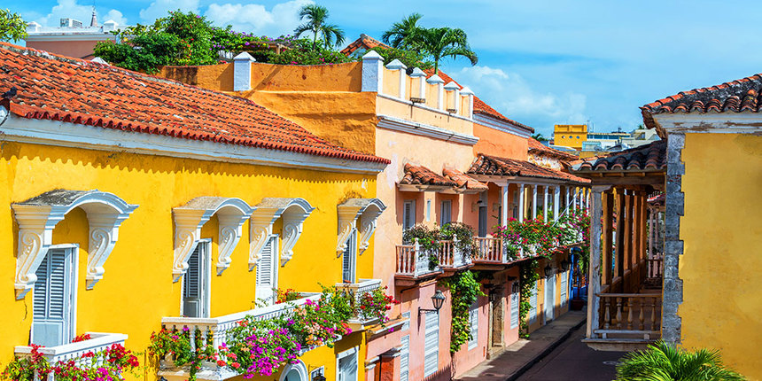 Return flights from Barcelona to Cartagena, Colombia for 486 €